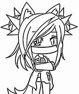 Gacha Coloring Pages Anime Wolf Characters Kawaii Drawings Unique Printable Chibi sketch template