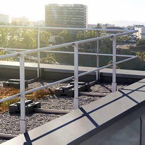 Toiture Terrasse Inaccessible : dani alu garde corps aluminium barrial autoport premium r glable toiture terrasse ~ Melissatoandfro.com Idées de Décoration