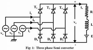 Three Phase Semi Converter With Conduction Diagram
