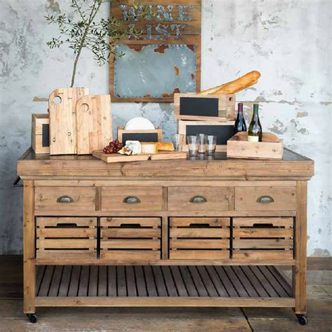 Park Hill Collection Rolling Kitchen Island Na