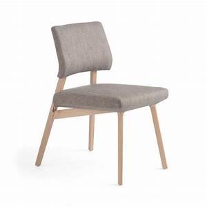 Chaise Bois Scandinave : chaise style scandinave en tissu et bois lindsay mobitec ~ Teatrodelosmanantiales.com Idées de Décoration