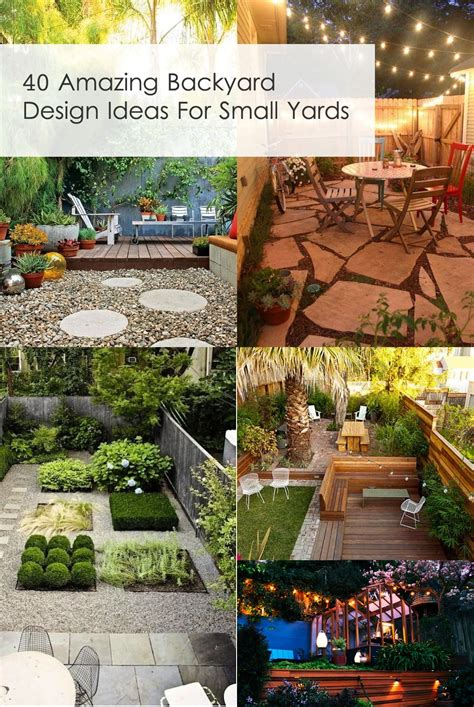 Home Design Backyard Ideas by 40 Amazing Design Ideas For Small Backyards