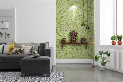 trendy colour ideas  pooja room