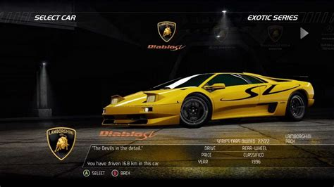 nfshp racer exotic series lamborghini diablo sv hd youtube