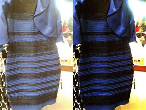 erklaerung anschaulich fuer das blau schwarze kleid das
