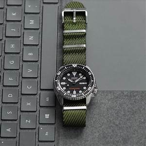 22mm green woven fabric nato b r bands