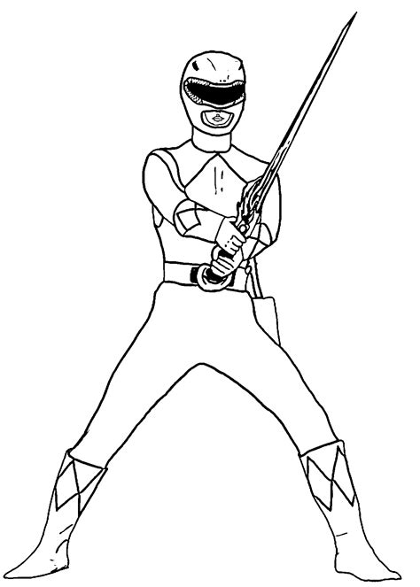 Mighty Morphing Power Rangers Free Coloring Pages