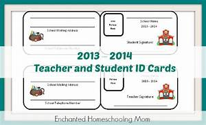 free homeschool teacher student id cards With homeschool id template