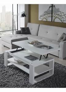 Table Basse Moderne Pas Cher : table basse relevable moderne ~ Teatrodelosmanantiales.com Idées de Décoration