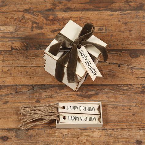happy birthday gift wood hangtag box homart