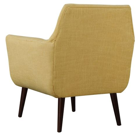 clyde mustard yellow linen chair from tov a38 y