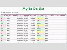 7 Excel Template Task List ExcelTemplates ExcelTemplates