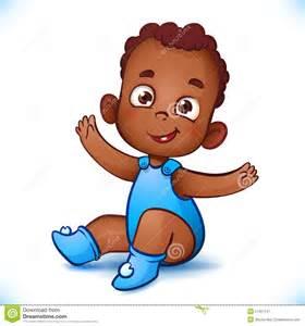 African American Baby Boy Cartoon