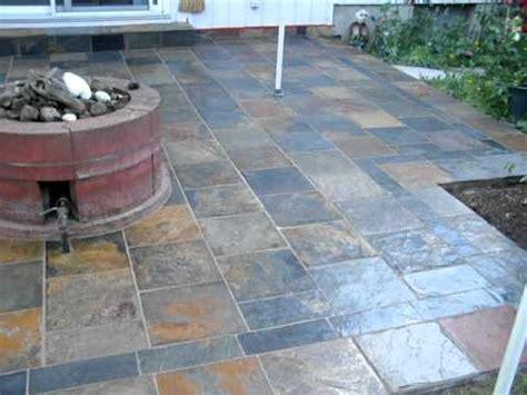 slate back patio installation mov