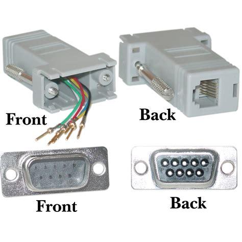 acl db9 to rj12 modular adapter gray 2 walmart com