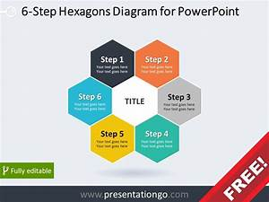 6 Step Hexagons Diagram For Powerpoint
