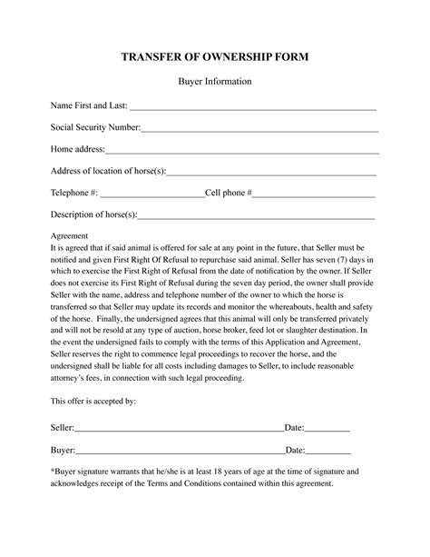 Boat Co Ownership Agreement Template by Ownership Contract Template 28 Images Doc 696900