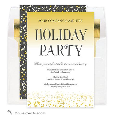 Annual Gathering Corporate Party Invitation A3JJW