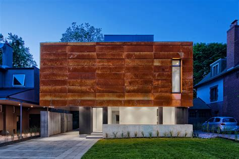 house to home interiors a house in toronto wrapped in corten steel design