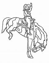 Rodeo Cowgirl Coloring Doing sketch template
