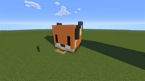 Minecraft Tiny (fox Head) Pixel Art House