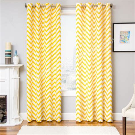 yellow chevron window curtains myideasbedroom com
