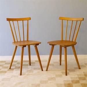 Chaise Bois Vintage : chaises vintage scandinave bois la maison retro ~ Teatrodelosmanantiales.com Idées de Décoration