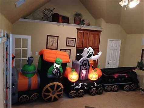 Gemmy Inflatable Halloween Train by Gemmy Used Halloween Train Inflatable Airblown