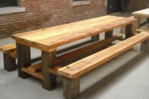 restaurant picnic table reclaimed wood hemlock copy flickr