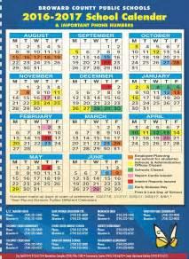 Broward County Public Schools Calendar 2017