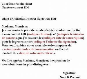 Edf Résiliation Contrat : edf r siliation comment r silier contrat edf par t l phone et courrier ~ Medecine-chirurgie-esthetiques.com Avis de Voitures