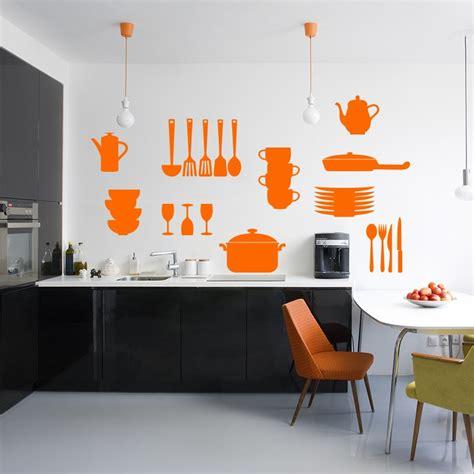 couvert de cuisine sticker couvert et ustensiles de cuisine
