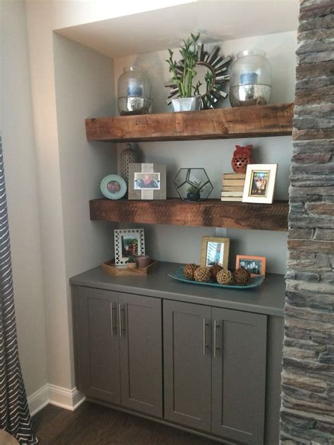 modern dvd storage cabinet our beautiful reclaimed wood floating shelves flanking
