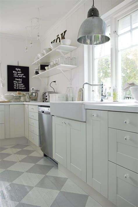 white kitchen gray floor 10 kitchens with open shelving house mix 1379