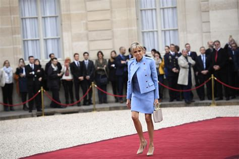 Melania Trump and Brigitte Macron Both Wore French Designers on...