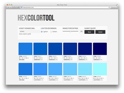 find   hexadecimal color  hex color tool