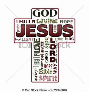 Drawing of Religion word cloud, Jesus, Christianity ...