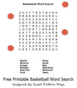 Printable Basketball Word Search