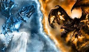 Fire Dragon vs Ice Dragon | ice dragon vs fire dragon, ice ...