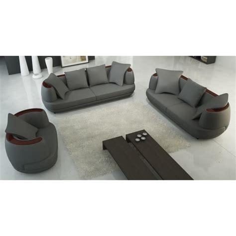 ensemble de canapé ensemble canapé 3 2 1 places en cuir gris ryga achat