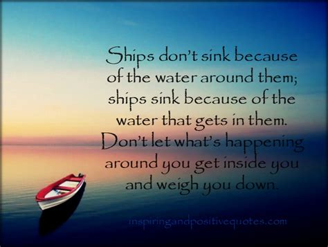 is sink water bad for you a ship without a captain be it good or bad cannot sail