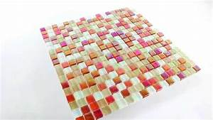 Mosaik Fliesen Perlmutt : glas mosaik fliesen perlmutt effekt rot mix youtube ~ Eleganceandgraceweddings.com Haus und Dekorationen