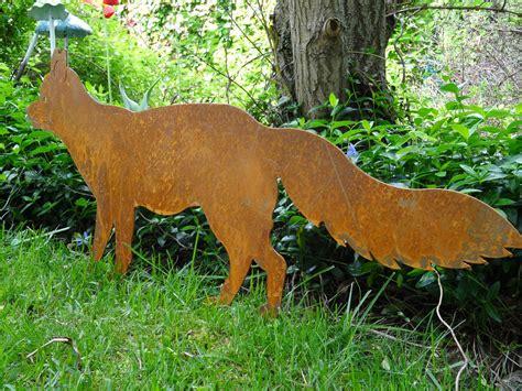 Garten Deko Fuchs by Gartenstecker Fuchs Aus Metall Rost Edelrost Gartendeko