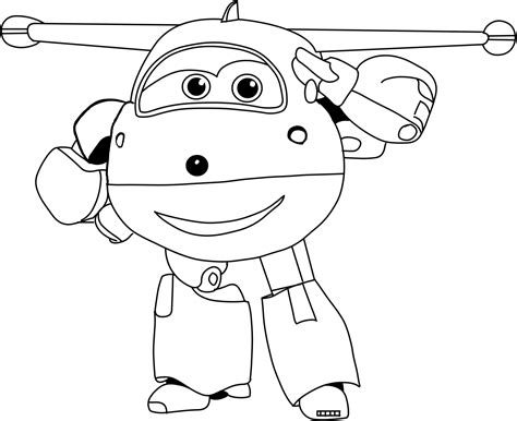 jett   super wings salutes coloring pages