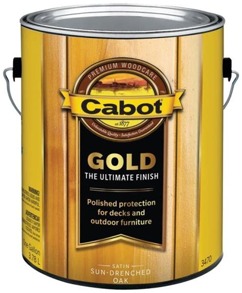 cabot gold  gallon sun drenched oak exterior wood