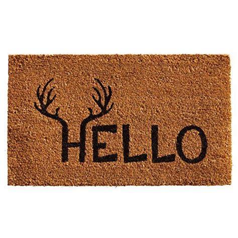 24 X 60 Doormat by Home More 121712436 Antler Hello Doormat 24 Quot X 36 Quot X 0