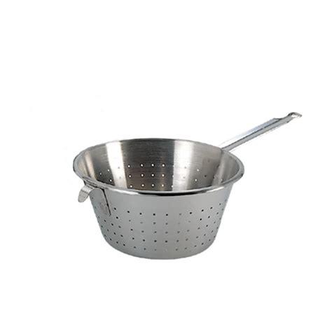 crochet ustensile cuisine passoire conique inox avec queue et crochet de buyer
