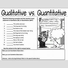 Qualitative Vs Quantitative Observations Worksheet  Middle School Science Blog