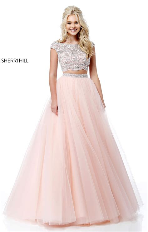 sherri hill   piece tulle ball gown prom dress