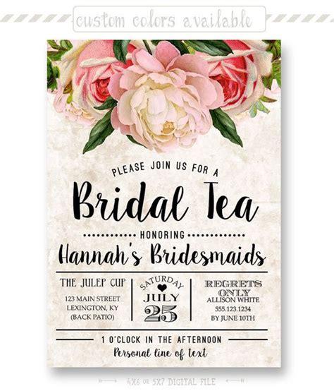 kitchen tea food ideas tea stained floral bridal tea invitation by shoppixelstix